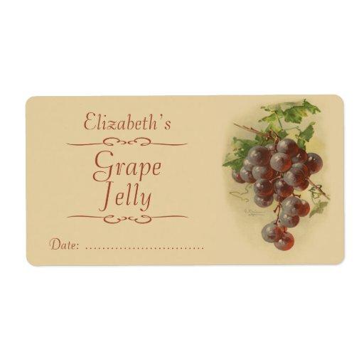 Uvas que conservan la etiqueta etiquetas de envío