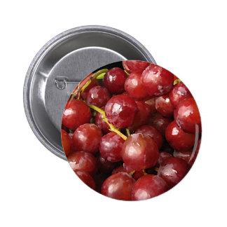 Uvas rojas pin redondo de 2 pulgadas
