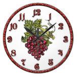 Uvas rojas reloj