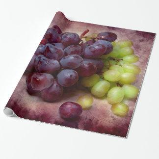 Uvas rojas y verdes papel de regalo