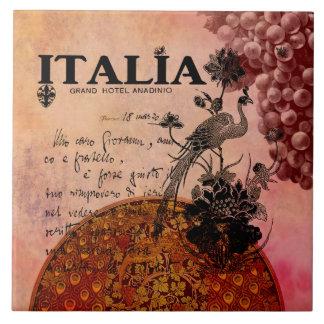 Uvas rosadas Italia Azulejo Cuadrado Grande
