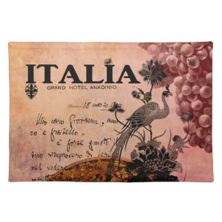 Uvas rosadas Italia Manteles Individuales