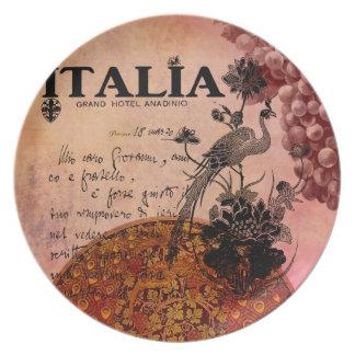 Uvas rosadas Italia Plato