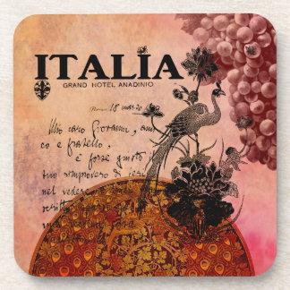 Uvas rosadas Italia Posavasos De Bebidas