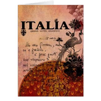Uvas rosadas Italia Tarjeta