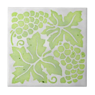 Uvas verdes claras azulejos ceramicos