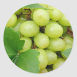 Uvas verdes pegatinas redondas