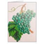 Uvas verdes tarjeton