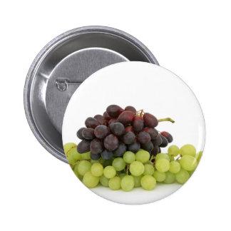Uvas verdes y negras pin redondo de 2 pulgadas