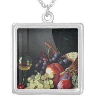 Uvas y ciruelos colgante cuadrado