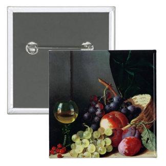 Uvas y ciruelos pin cuadrado