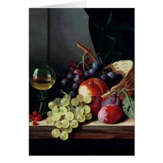 Uvas y ciruelos tarjeta de felicitación