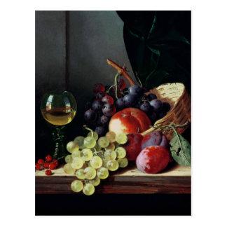 Uvas y ciruelos tarjeta postal