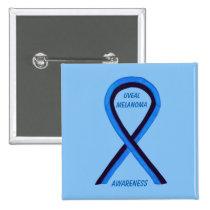 Uveal Melanoma Awareness Ribbon Angel Custom Pin