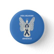 Uveal Melanoma Awareness Ribbon Angel Custom Pin