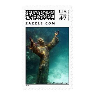 UW Jesus Christ Statue Postage Stamp