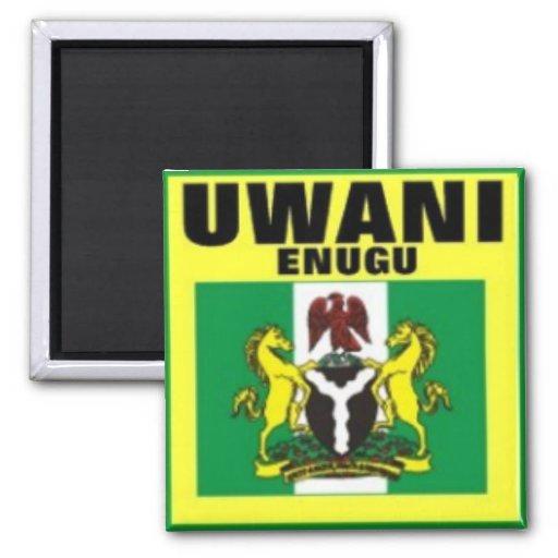Uwani Nigeria, camiseta y etc Imán Cuadrado