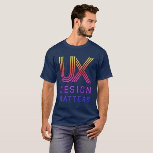 UX Design Matters Rainbow Logo Mens T_Shirt