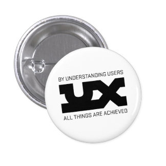 UX Mantras Pinback Buttons