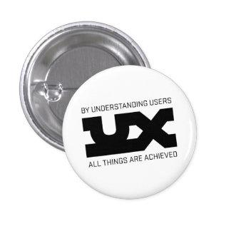 UX Mantras Pinback Button