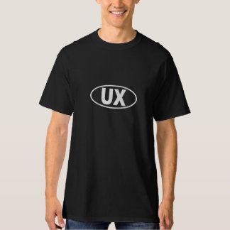 UX User Experience T-Shirt - White oval logo
