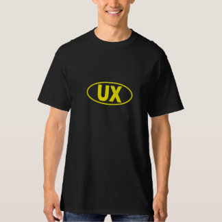 UX User Experience T-Shirt - Yellow oval logo