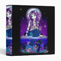 mermaid, tropical, rainbow, siren, fish, coral, sea, faerie, fairy, fae, faery, ocean, fantasy, art, gothic, lyre, treasure, mermen, mermaids, Fichário com design gráfico personalizado
