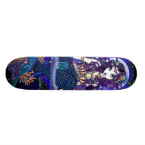 """Uxia"" Twilight Moon Gothic Mermaid Skateboard"