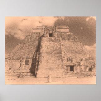 Uxmal Mayan Ruins Poster