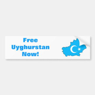 Uyghur Freedom Bumper Sticker Car Bumper Sticker