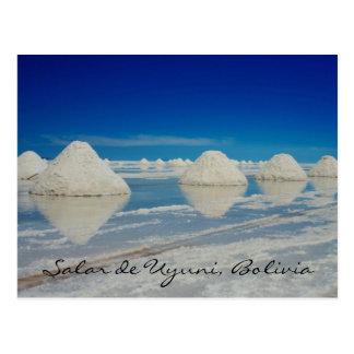 uyuni salt plain pyramids postcard