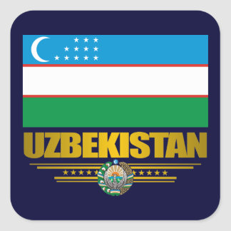 """Uzbek Pride"" Square Sticker"