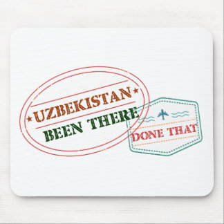 Uzbekistan Been There Done That Mouse Pad