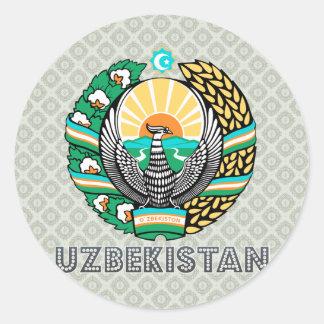 Uzbekistan Coat of Arms Classic Round Sticker