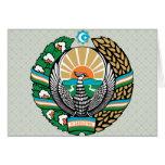 Uzbekistan Coat of Arms detail Greeting Card