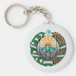 Uzbekistan Coat of Arms detail Key Chain