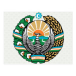 Uzbekistan Coat of Arms detail Postcard