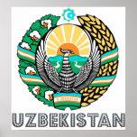Uzbekistan Coat of Arms Poster