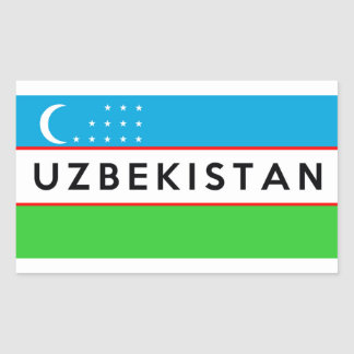 uzbekistan country flag symbol name text sticker