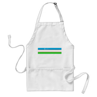 Uzbekistan country long flag nation symbol adult apron