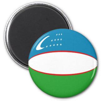 Uzbekistan Fisheye Flag Magnet