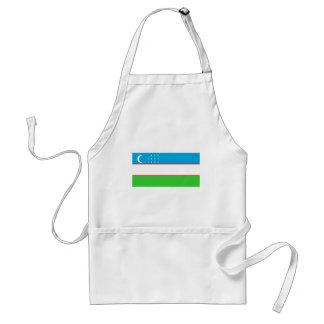 Uzbekistan flag apron