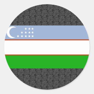 Uzbekistan Flag Classic Round Sticker
