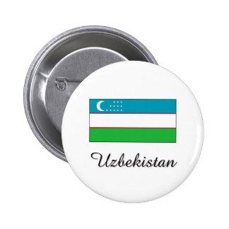 Uzbekistan Flag Design 2 Inch Round Button