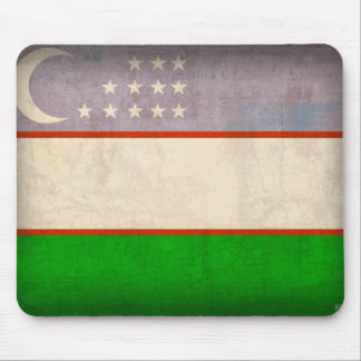 Uzbekistan Flag Distressed Mousepad