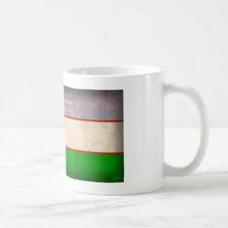 Uzbekistan Flag Distressed Mug