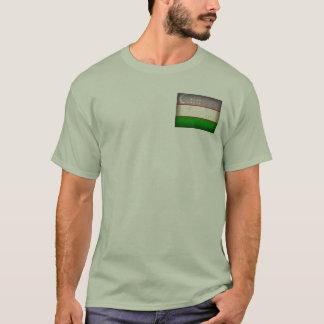 Uzbekistan Flag Distressed T-Shirt