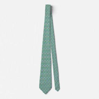 Uzbekistan Flag Honeycomb Tie