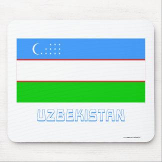 Uzbekistan Flag with Name Mouse Pad