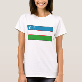 Uzbekistan Flag x Map T-Shirt